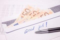 Φάκελος με τα χρήματα Στοκ Φωτογραφίες
