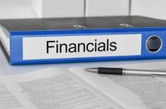 Φάκελλος με την ετικέτα Financials στοκ εικόνα