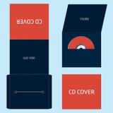 Φάκελος του CD DVD BLU-RAY Στοκ εικόνα με δικαίωμα ελεύθερης χρήσης
