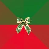 Φάκελος Χριστουγέννων με το τόξο Στοκ Φωτογραφίες