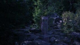 Φάντασμα μιας νέας γυναίκας στο δασικό φάντασμα των αρχαίων καταστροφών αποκριές