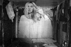 Φάντασμα σε ένα δωμάτιο Στοκ Φωτογραφία