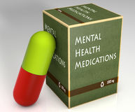 Φάρμακα πνευματικών υγειών Στοκ Φωτογραφίες