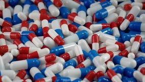 Φάρμακα που περιστρέφονται την κινηματογράφηση σε πρώτο πλάνο απόθεμα βίντεο