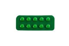 Φάρμακα στα πακέτα φουσκαλών που απομονώνονται στο άσπρο υπόβαθρο Στοκ Εικόνες