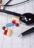 φάρμακα ecg Στοκ Φωτογραφίες