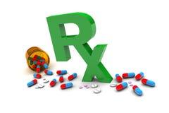 Φάρμακα Rx Στοκ φωτογραφίες με δικαίωμα ελεύθερης χρήσης