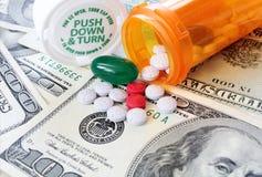 Φάρμακο και ιατρικές δαπάνες - υγειονομική περίθαλψη Στοκ εικόνες με δικαίωμα ελεύθερης χρήσης