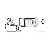 Φάρμακο μέσων τηλεοπτικής προπαγάνδας Στοκ φωτογραφία με δικαίωμα ελεύθερης χρήσης