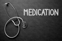 Φάρμακο χειρόγραφο στον πίνακα κιμωλίας τρισδιάστατη απεικόνιση Στοκ φωτογραφία με δικαίωμα ελεύθερης χρήσης