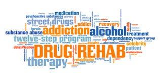Φάρμακο rehab διανυσματική απεικόνιση