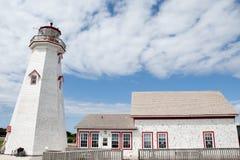 Φάρος ανατολικού σημείου - νησί του Edward πριγκήπων - Καναδάς στοκ φωτογραφία με δικαίωμα ελεύθερης χρήσης