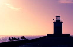φάρος βραδιού Στοκ φωτογραφίες με δικαίωμα ελεύθερης χρήσης