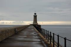 Φάρος βόρειων αποβαθρών σε Tynemouth Στοκ εικόνα με δικαίωμα ελεύθερης χρήσης