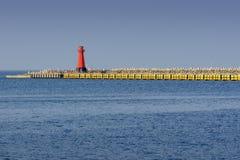 Φάρος, είσοδος στο λιμάνι Στοκ εικόνες με δικαίωμα ελεύθερης χρήσης