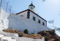 Φάρος Ελλάδα Santorini Στοκ εικόνα με δικαίωμα ελεύθερης χρήσης