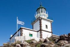 Φάρος Ελλάδα Santorini Στοκ Εικόνες