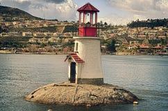 Φάρος λιμνών φαραγγιών Στοκ φωτογραφία με δικαίωμα ελεύθερης χρήσης