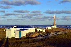 Φάρος και σύννεφα Polonio Cabo Στοκ εικόνα με δικαίωμα ελεύθερης χρήσης