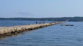 Φάρος κυματοθραυστών Στοκ εικόνα με δικαίωμα ελεύθερης χρήσης