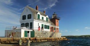 Φάρος κυματοθραυστών Rockland Στοκ φωτογραφία με δικαίωμα ελεύθερης χρήσης