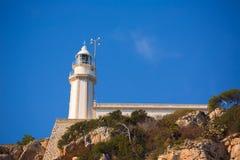 Φάρος μεσογειακή Ισπανία Λα Nao Cabo Javea Στοκ Φωτογραφία