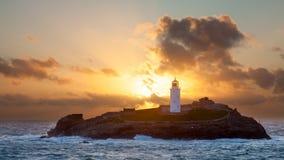 Φάρος νησιών Godrevy Στοκ φωτογραφία με δικαίωμα ελεύθερης χρήσης