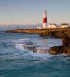 φάρος Πόρτλαντ UK του Dorset λογ&al Στοκ Φωτογραφίες