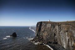 Φάρος σε Dyrholaey στην Ισλανδία Στοκ Εικόνα