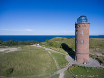 Φάρος σε Kap Arkona, νησί Ruegen, Γερμανία Peilturm Στοκ εικόνες με δικαίωμα ελεύθερης χρήσης