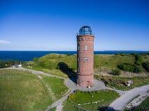 Φάρος σε Kap Arkona, νησί Ruegen, Γερμανία Peilturm Στοκ Εικόνα