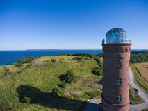 Φάρος σε Kap Arkona, νησί Ruegen, Γερμανία Peilturm Στοκ Εικόνες