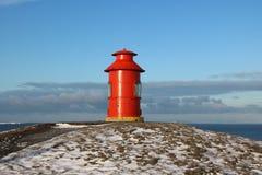 Φάρος σε Stykkisholmur, Ισλανδία Στοκ Εικόνες