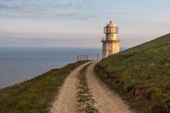 Φάρος στην Κριμαία κοντά στο ακρωτήριο Στοκ εικόνα με δικαίωμα ελεύθερης χρήσης