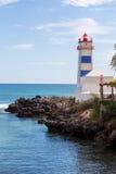 Φάρος στην ωκεάνια ακτή στα cascais κόλπων Στοκ φωτογραφία με δικαίωμα ελεύθερης χρήσης