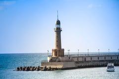 Φάρος στη θάλασσα Αλεξάνδρεια στην Αίγυπτο στοκ φωτογραφία