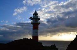 Φάρος στο ηλιοβασίλεμα, Tenerife, Κανάρια νησιά Στοκ Φωτογραφία