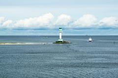 Φάρος στο Κίελο, η θάλασσα της Βαλτικής στοκ εικόνα με δικαίωμα ελεύθερης χρήσης