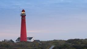 Φάρος στο νησί Schiermonnikoog απόθεμα βίντεο