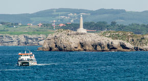Φάρος στο σαντάντερ, Cantabria, Ισπανία Στοκ εικόνες με δικαίωμα ελεύθερης χρήσης