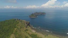 Φάρος στο engano ακρωτηρίων Νησί των Φιλιππινών, Παλάου Στοκ εικόνα με δικαίωμα ελεύθερης χρήσης