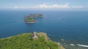 Φάρος στο engano ακρωτηρίων Νησί των Φιλιππινών, Παλάου στοκ φωτογραφία με δικαίωμα ελεύθερης χρήσης