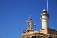 Φάρος της επιφύλαξης φύσης Cabo de Gata στοκ εικόνα με δικαίωμα ελεύθερης χρήσης