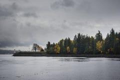 Φάρος του Βανκούβερ από το πάρκο του Stanley Στοκ εικόνες με δικαίωμα ελεύθερης χρήσης