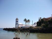 Φάρος του Κασκάις σε ένα ηλιόλουστο απόγευμα (Πορτογαλία) Στοκ φωτογραφία με δικαίωμα ελεύθερης χρήσης