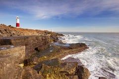 Φάρος του Πόρτλαντ Μπιλ στο Dorset, Αγγλία μια ηλιόλουστη ημέρα Στοκ Εικόνες