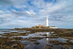 Φάρος του ST Mary ` s, βορειοανατολική Αγγλία Στοκ φωτογραφία με δικαίωμα ελεύθερης χρήσης