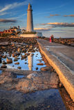 Φάρος του ST marys Στοκ εικόνα με δικαίωμα ελεύθερης χρήσης