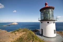 Φάρος του u Makapu ` και νησί κουνελιών Στοκ φωτογραφία με δικαίωμα ελεύθερης χρήσης