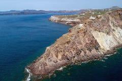 Φάρος Akrotiri, Santorini, Ελλάδα Στοκ εικόνα με δικαίωμα ελεύθερης χρήσης